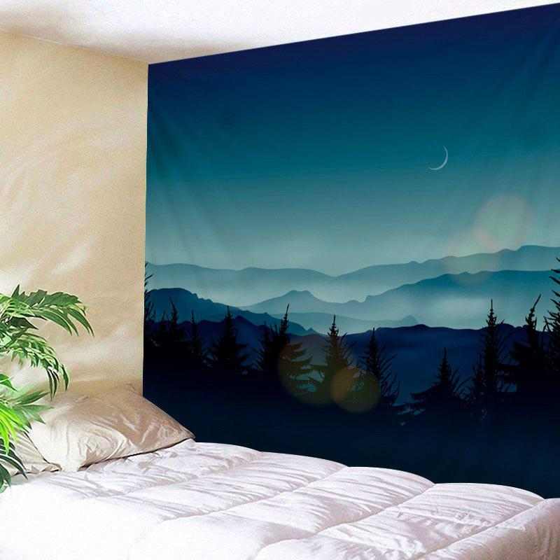 Mountains Night Print Tapestry Wall Hanging Art wall hanging art decor mountains night print tapestry