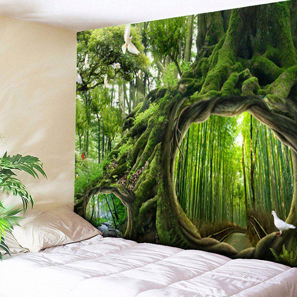 Wall Hanging Forest Life Tree Pattern Tapestry wall hanging forest tree printing tapestry