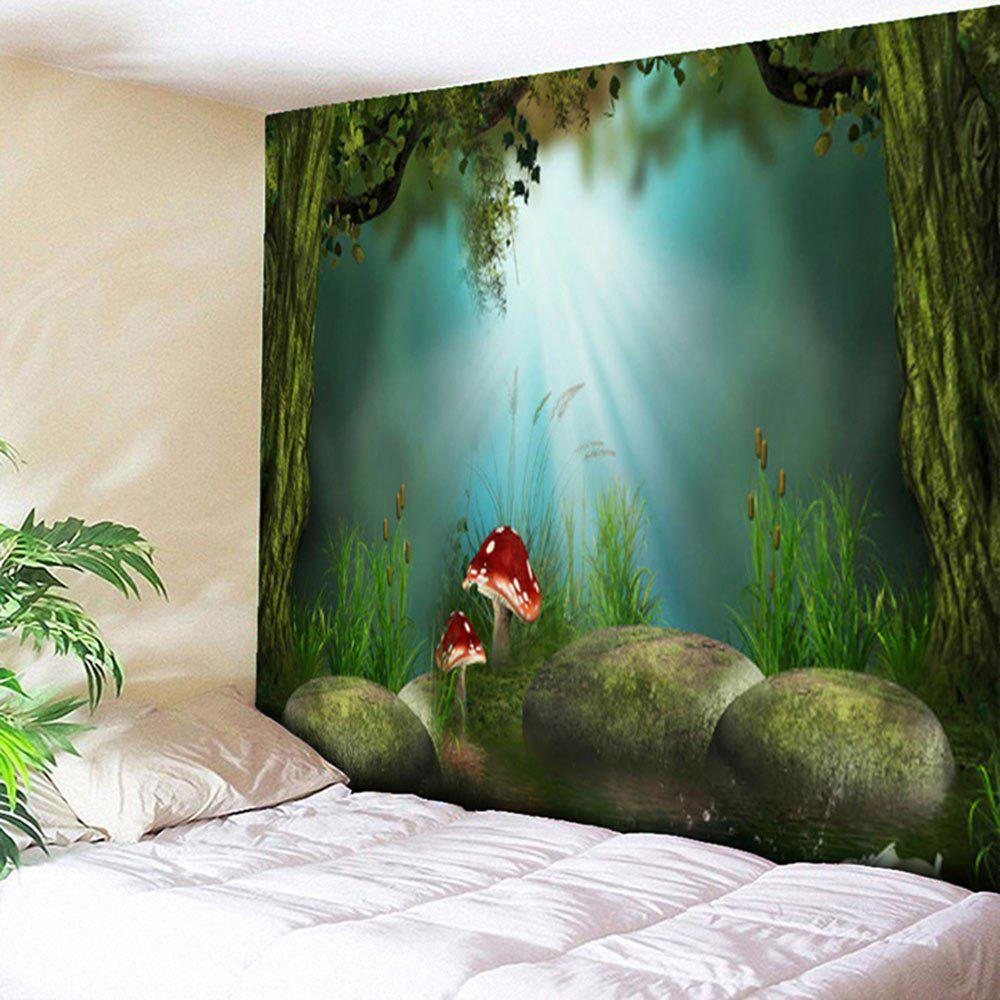 Magic Forest Mushroom Tapestry Wall Hanging wild edible mushroom in forest ecosystem