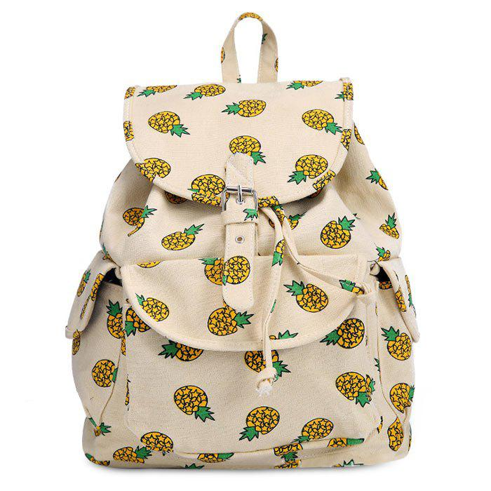 Fruit Printed Canvas Backpack - PALOMINO