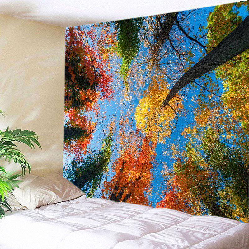 Maple Forest Sky Print Tapestry Wall Hanging Art wall hanging art maple forest print tapestry