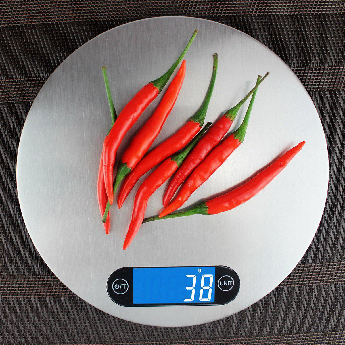 Kitchen Measure Tool Digital 5KG/1g Electronic Scale - SILVER 20*20*1.6CM(5KG/1G)