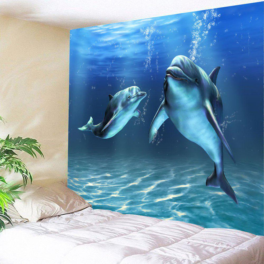 Uncategorized Dolphin Images To Print 2018 waterproof dolphin print wall tapestry blue w inch l in w79 l59 inch