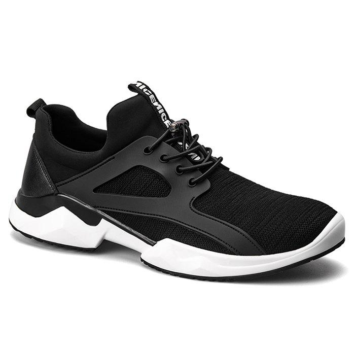 String Breathable Stretch Fabric Athletic Shoes - BLACK 40