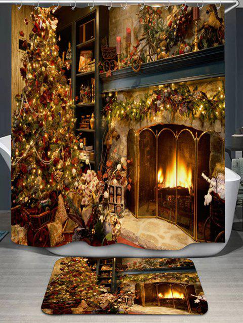 Limited Offer 2019 Christmas Fireplace Print Shower