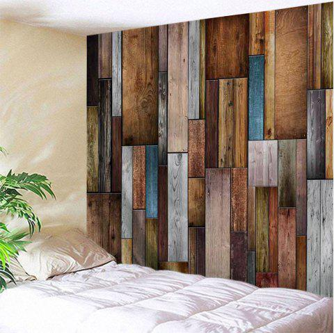 Vintage Wood Texture Wall Decoration Tapestry - COLORMIX W91 X L71 INCH
