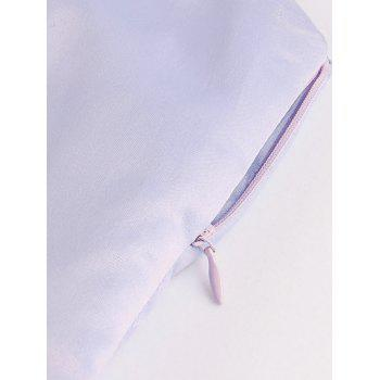 Button Up A Line Sleeveless Dress - LAVENDER FROST LAVENDER FROST