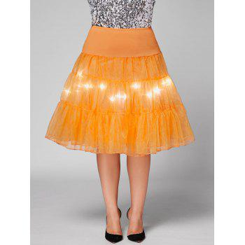 Grand style Light Up Cosplay Party Skirt - Orange 2XL