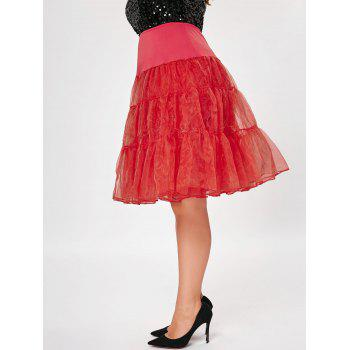 Grand style Light Up Cosplay Party Skirt - Rouge 3XL