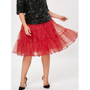 Grand style Light Up Cosplay Party Skirt - Rouge 2XL
