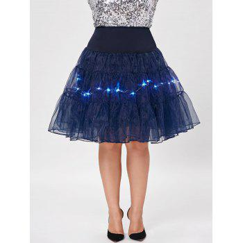Grand style Light Up Cosplay Party Skirt - Azuré 5XL