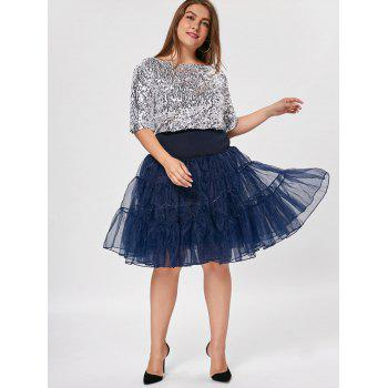 Grand style Light Up Cosplay Party Skirt - Azuré 2XL