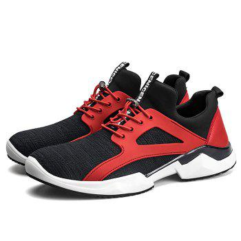 String Breathable Stretch Fabric Athletic Shoes - RED/BLACK 42