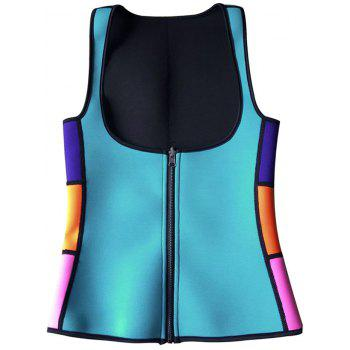 Color Block Underbust Neoprene Corset Vest