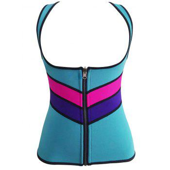 Color Block Underbust Neoprene Corset Top