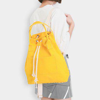 Drawstring Top Handle Canvas Backpack