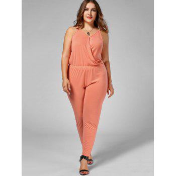 Plus Size Spaghetti Strap Jumpsuit - ORANGE 3XL