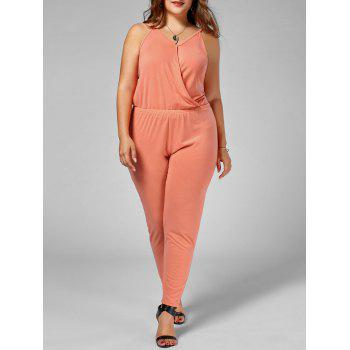 Plus Size Spaghetti Strap Jumpsuit - ORANGE 2XL