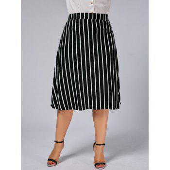 Plus Size A Line Stripe Skirt - 5XL 5XL