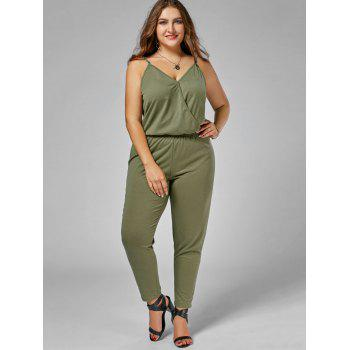 Plus Size Spaghetti Strap Jumpsuit - ARMY GREEN 2XL