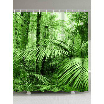 Tropical Rainforest Fabric Bathtub Shower Curtain