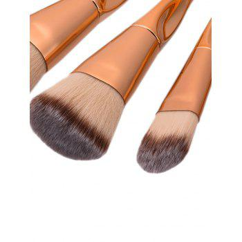 Tapered Concave Makeup Brushes Set With Stripes Bag - ROSE GOLD