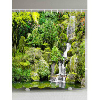 Eco-Friendly Nature Landscape Printed Shower Curtain