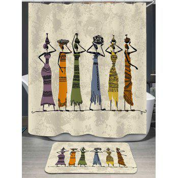 Africa Beauties Pattern Shower Curtain and Rug