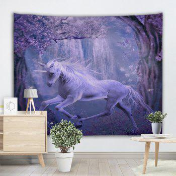 Unicorn Animal Fairyland Wall Hanging Tapestry - PURPLE W51 INCH * L59 INCH