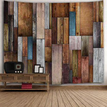 Vintage Wood Texture Wall Decoration Tapestry - COLORMIX W71 INCH * L91 INCH