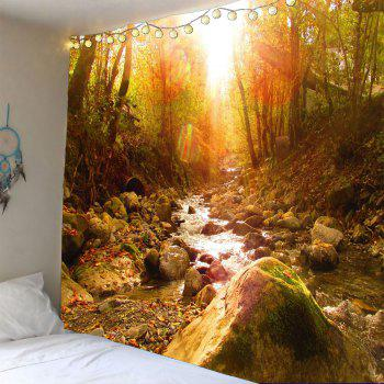 Sunshine Forest Stream Waterproof Hannging Tapestry