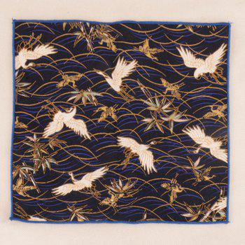 Animal Pattern Embellished Ethnic Handkerchief - DEEP BLUE