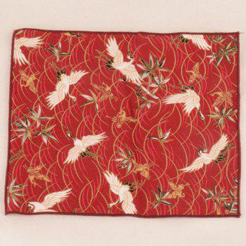 Animal Pattern Embellished Ethnic Handkerchief -  RED