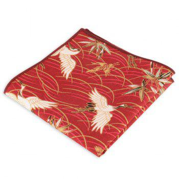 Animal Pattern Embellished Ethnic Handkerchief - RED RED