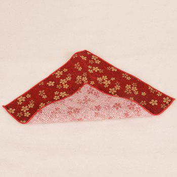 Portable Vintage Ethnic Pattern Handkerchief - RED