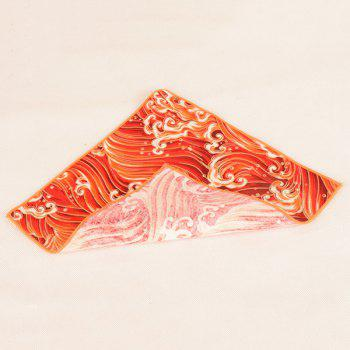 Portable Vintage Ethnic Pattern Handkerchief -  BRIGHT ORANGE