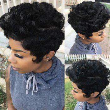 Short Layered Fluffy Curly Synthetic Wig