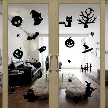 Removable Halloween Decoration DIY Wall Stickers - BLACK