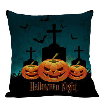Halloween Pumpkin Tombstone Printed Pillow Case - COLORFUL COLORFUL