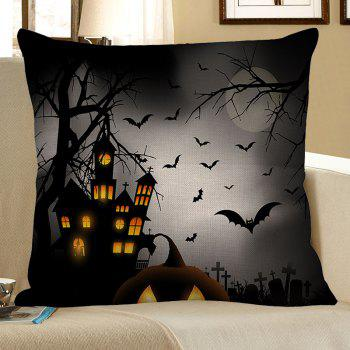 Tower Bat Printed Halloween Pillowcase