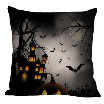 Tower Bat Printed Halloween Pillowcase - W18 INCH * L18 INCH W18 INCH * L18 INCH