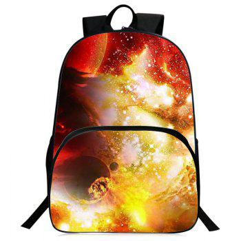 Universe Printed Padded Strap Backpack