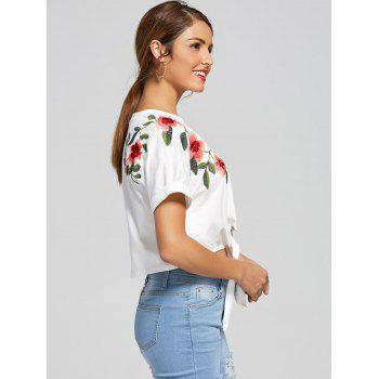 Batwing Sleeves Front Lace Up Cropped Top - S S