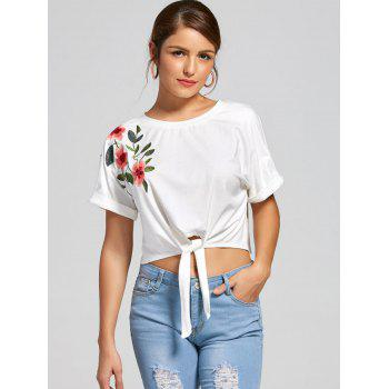 Batwing Sleeves Front Lace Up Cropped Top - XL XL