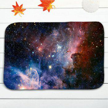 3Pcs/Set Flannel Star Sky Printed Bath Toilet Rug - STARRY SKY PATTERN