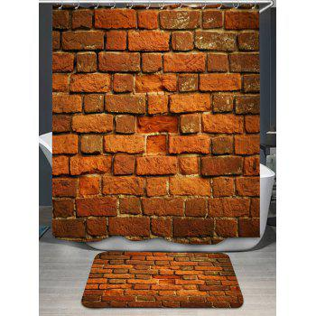 Brick Wall Shower Curtain and Area Rug
