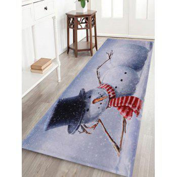 Lying Snowman Print Indoor Outdoor Area Rug
