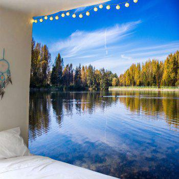 Sky Lake Forest Waterproof Wall Tapestry