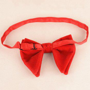 Three Pieces Bowtie Handkerchief Cufflink Set - BRIGHT RED