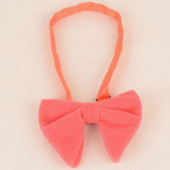 Three Pieces Bowtie Handkerchief Cufflink Set -  PINK